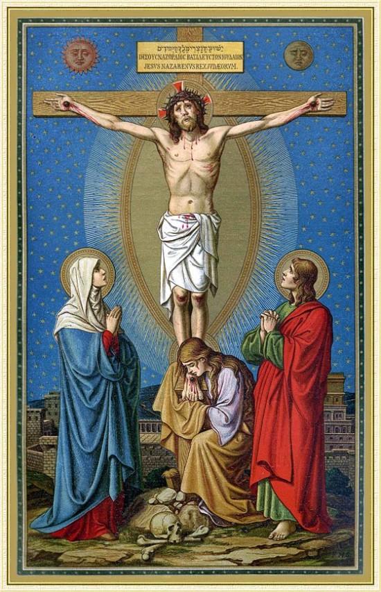 dibujos de jesus en la cruz (1)