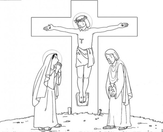 dibujos de jesus en la cruz (2)