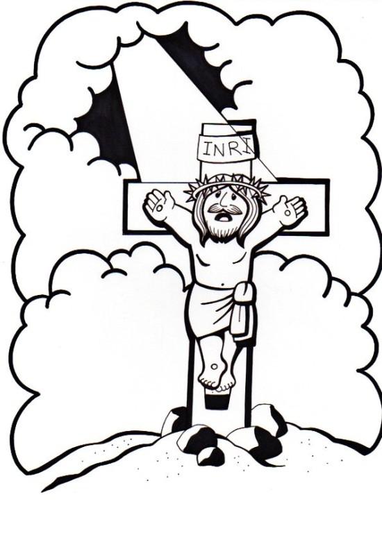 dibujos de jesus en la cruz (3)