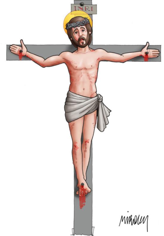 dibujos de jesus en la cruz (7)