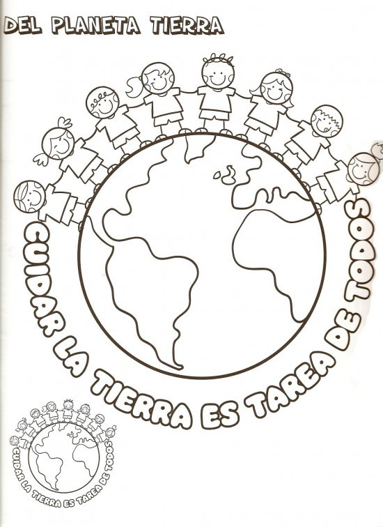 imagenes para pintar dia mundial de la tierra (2)