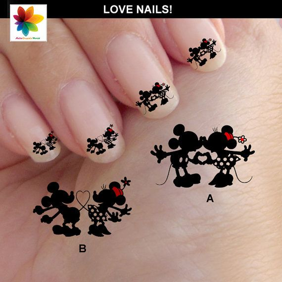 valentine-day-mouse-in-love-disney-nail-art-cartoon-nail-art-mickey-mouse-60-waterslide-stickers-decal-nail-clear-background