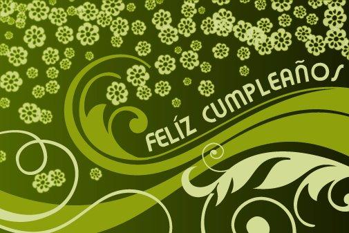 Adorno floral para desear Feliz cumpleaños (12)
