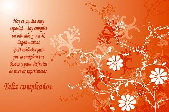 Adorno floral para desear Feliz cumpleaños (3)