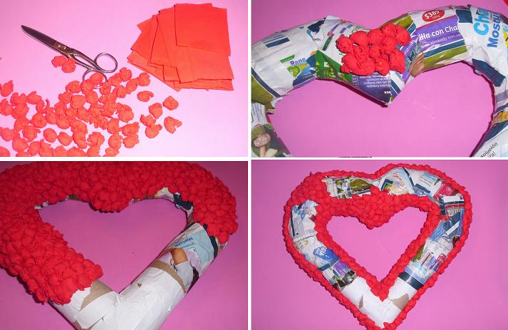 Como-hacer-un-corazón-con-periódico-para-San-Valentin