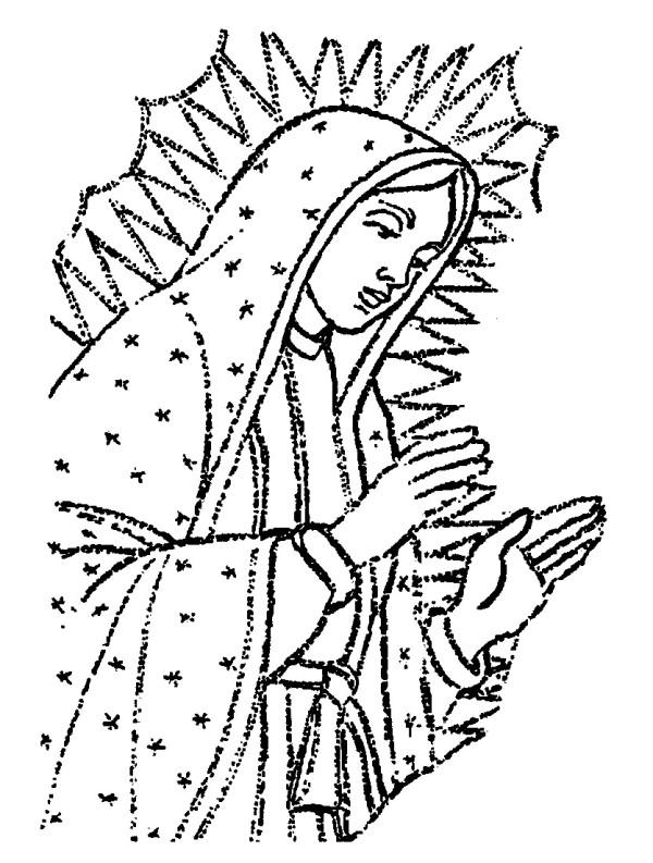 Imágenes Del Día De La Inmaculada Concepción De María Para Colorear