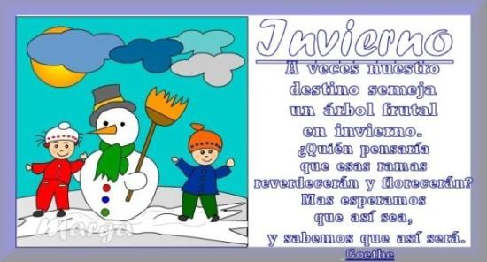 Imágenes con frases de Bienvenido Feliz Invierno  (13)