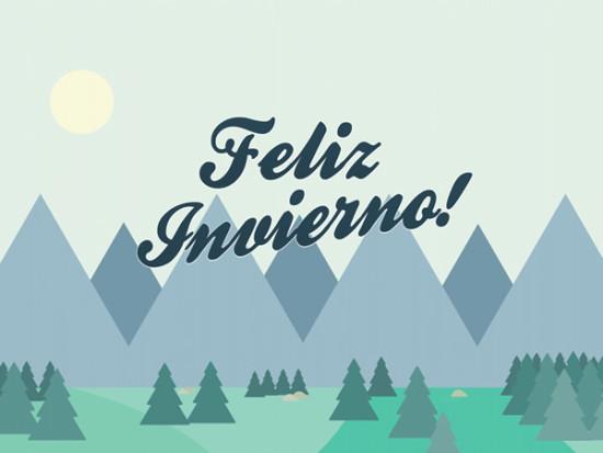 Imágenes con frases de Bienvenido Feliz Invierno  (18)