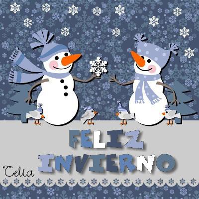 Imágenes con frases de Bienvenido Feliz Invierno  (21)