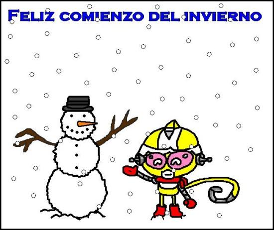 Imágenes con frases de Bienvenido Feliz Invierno  (3)