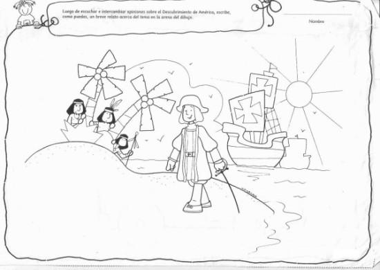 dibujos Descubrimiento de America para colorear (1)