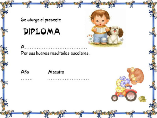 diplomas para niños para dedicar e imprimir (2)