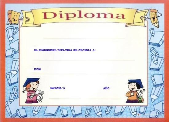 diplomas escolares infantiles para ni u00f1os para imprimir y descargar