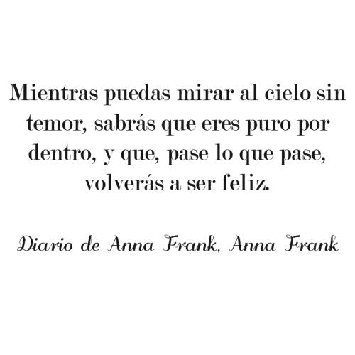 Frases Del Diario De Ana Frank Las Mejores Frases Información Imágenes
