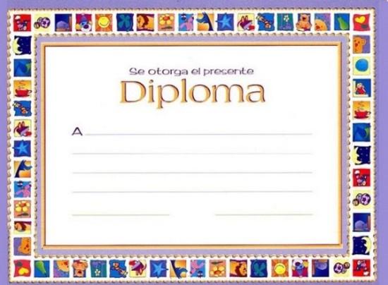 modelos de diplomas para imprimir para nios 1