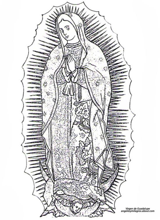 virgen-maria-para-colorear-guadalupe