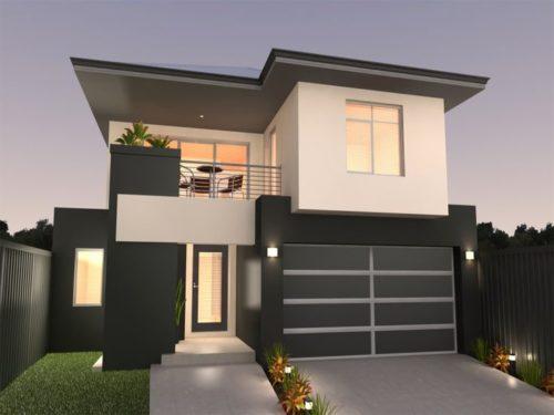 Fachadas de casas modernas de 6 metros fachadas de t for Casa moderna 90m2