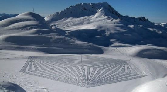 Imágenes de arte en nieve Simon Beck  (11)