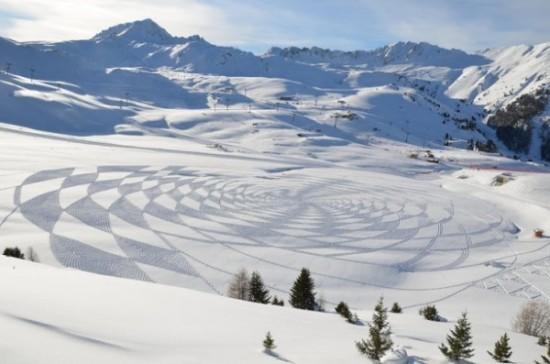 Imágenes de arte en nieve Simon Beck  (12)