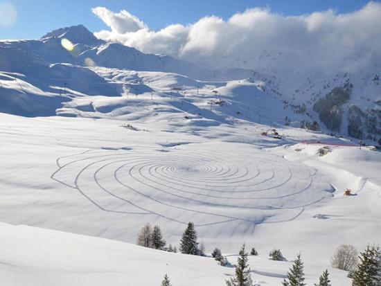 Imágenes de arte en nieve Simon Beck  (5)
