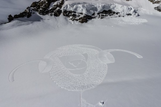 Imágenes de arte en nieve Simon Beck  (6)