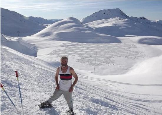 Imágenes de arte en nieve Simon Beck  (9)