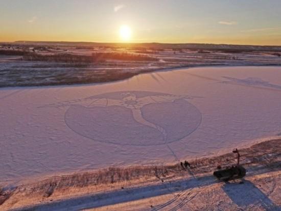 arte en la nieve imágenes  (14)