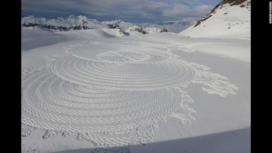 arte en la nieve imágenes  (2)