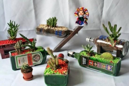 80 im genes de hermosas macetas originales y recicladas for Ideas originales para jardines