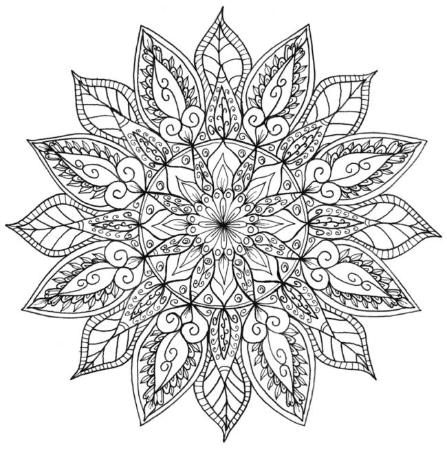 50 im genes de mandalas para colorear e imprimir con