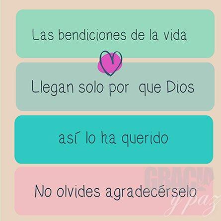 mensajes de gratitud a Dios