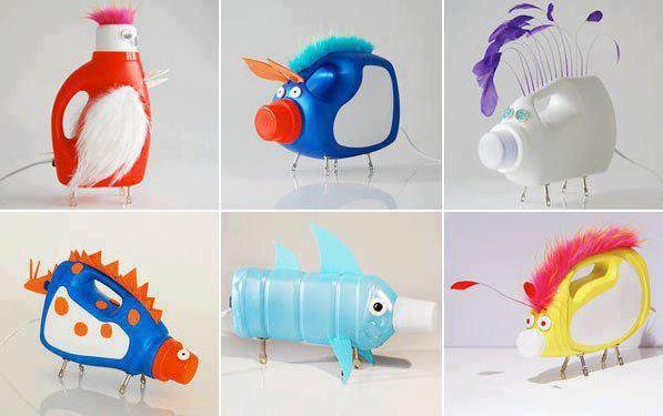 Im genes de juguetes reciclados para ni os hechos a mano for Casa de juguetes para jardin
