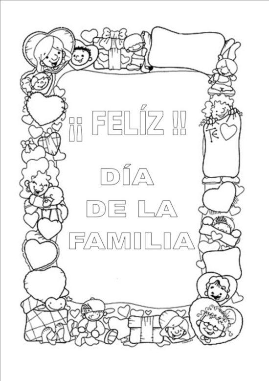 Día de la Familia para colorear imprimir (13)