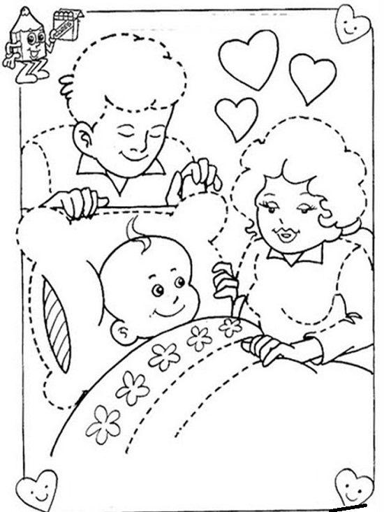 Día de la Familia para colorear imprimir (2)