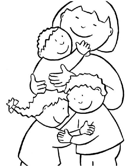 Día de la Familia para colorear imprimir (3)