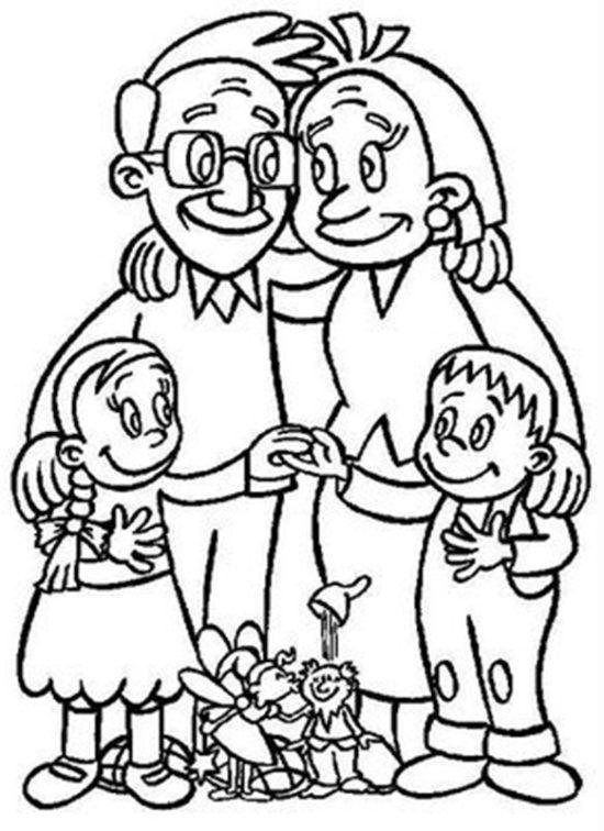 Día de la Familia para colorear imprimir (4)