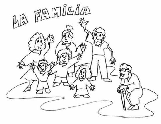Día de la Familia para colorear imprimir (5)
