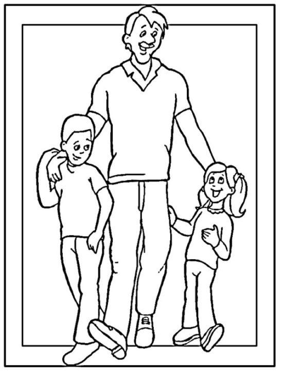 Día de la Familia para colorear imprimir (9)