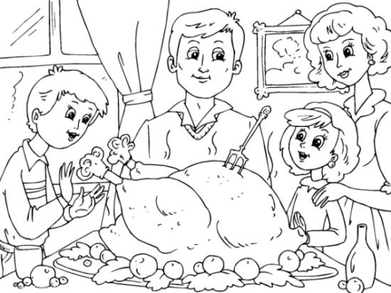 Dibujos de la Familia para colorear  (1)