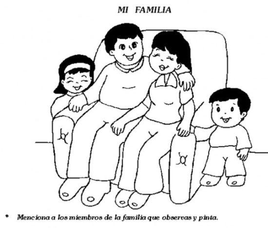 Dibujos de la Familia para colorear  (11)