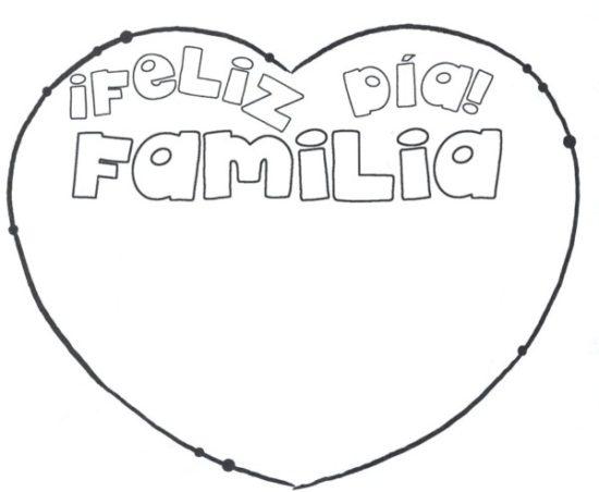 Dibujos de la Familia para colorear  (16)