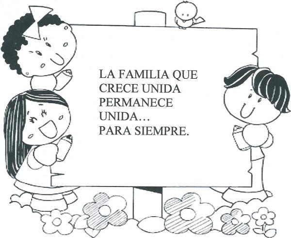 Dibujos infantiles del d a de la familia para colorear - Dibujos para pintar en la pared ...