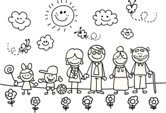 Dibujos de la Familia para colorear  (19)