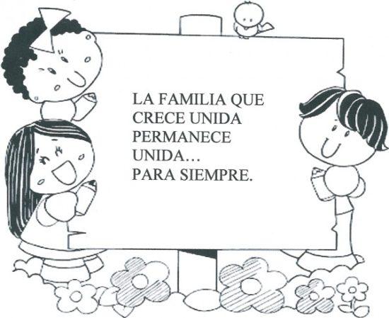 Dibujos de la Familia para colorear  (2)