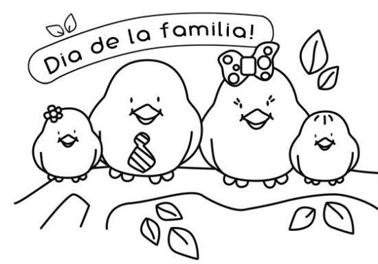 Dibujos de la Familia para colorear  (21)