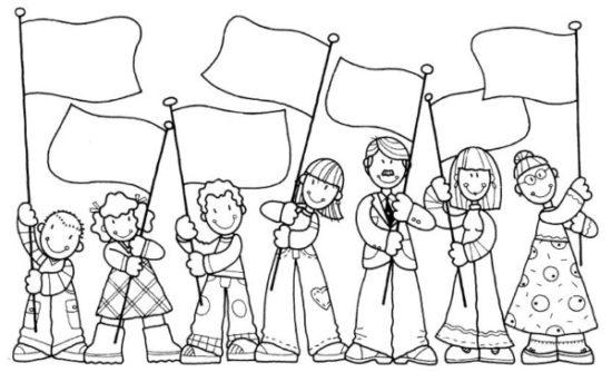 Dibujos de la Familia para colorear  (3)