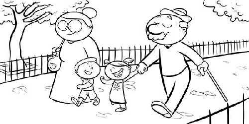 Dibujos de la Familia para colorear  (4)