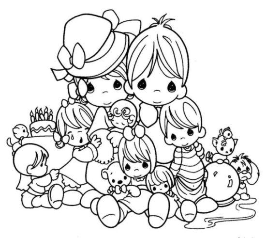 Dibujos de la Familia para colorear  (8)