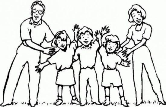 Dibujos de la Familia para colorear  (9)