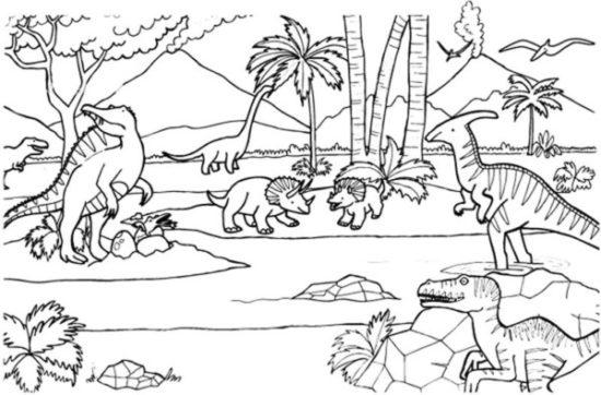 Dinosaurios para colorear dibujos (13)